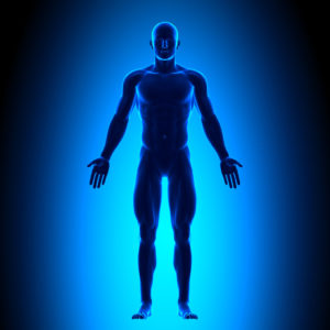 Human Body in Blue Light