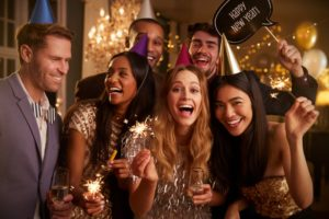friends at a New Year party